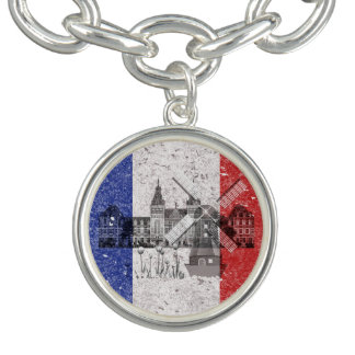 Flag and Symbols of the Netherlands ID151 Charm Bracelets