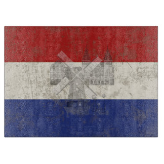 Flag and Symbols of the Netherlands ID151 Cutting Board