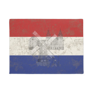Flag and Symbols of the Netherlands ID151 Doormat