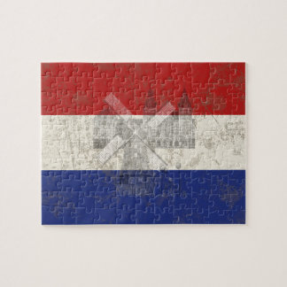 Flag and Symbols of the Netherlands ID151 Jigsaw Puzzle