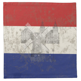 Flag and Symbols of the Netherlands ID151 Napkin