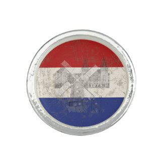 Flag and Symbols of the Netherlands ID151 Photo Rings