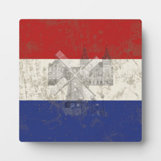 Flag and Symbols of the Netherlands ID151 Plaque