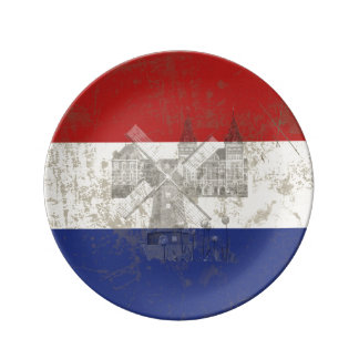 Flag and Symbols of the Netherlands ID151 Plate