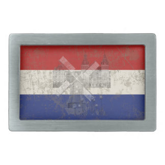 Flag and Symbols of the Netherlands ID151 Rectangular Belt Buckle