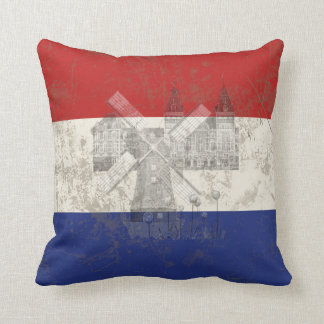 Flag and Symbols of the Netherlands ID151 Throw Pillow