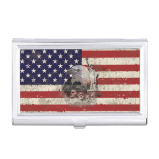 Flag and Symbols of United States Case For Business Cards