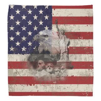 Flag and Symbols of United States ID155 Bandana
