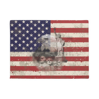 Flag and Symbols of United States ID155 Doormat