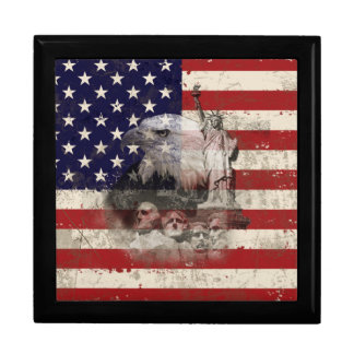 Flag and Symbols of United States ID155 Gift Box