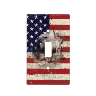 Flag and Symbols of United States ID155 Light Switch Cover