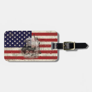 Flag and Symbols of United States ID155 Luggage Tag