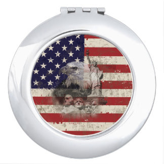 Flag and Symbols of United States ID155 Makeup Mirror