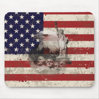 Flag and Symbols of United States ID155 Mouse Pad