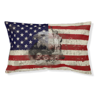 Flag and Symbols of United States ID155 Pet Bed
