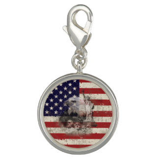 Flag and Symbols of United States ID155 Photo Charm