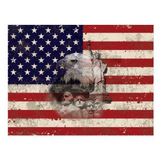 Flag and Symbols of United States ID155 Postcard