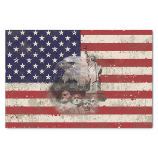 Flag and Symbols of United States ID155 Tissue Paper