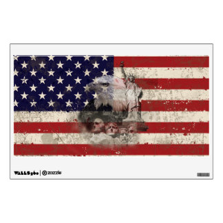 Flag and Symbols of United States ID155 Wall Sticker