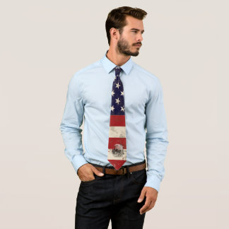 Flag and Symbols of United States V2 ID155 Tie
