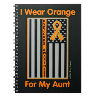 Flag/Aunt...RSD/CRPS Spiral Note Book