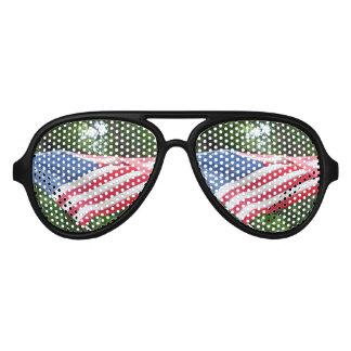 Flag Aviator Sunglasses