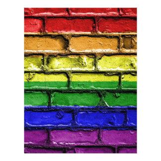 Flag Banner Gay LGBT Letterhead