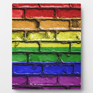 Flag Banner Gay LGBT Plaque