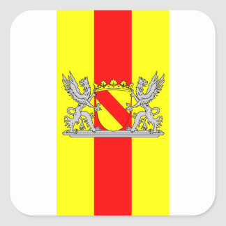 Flag bathing coat of arms of Baden Square Sticker