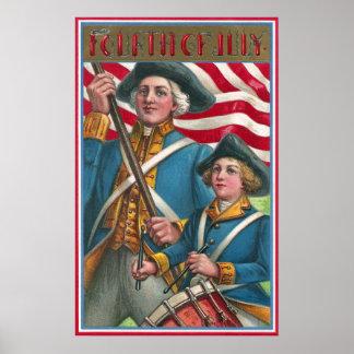 Flag Bearer and Drummer Boy Poster