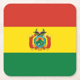 Flag: Bolivia Square Paper Coaster