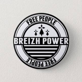 flag Breton Breizh Brittany free people 2 Inch Round Button