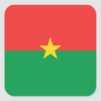 flag_burkina_farso square sticker