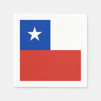 Flag: Chile Paper Napkins