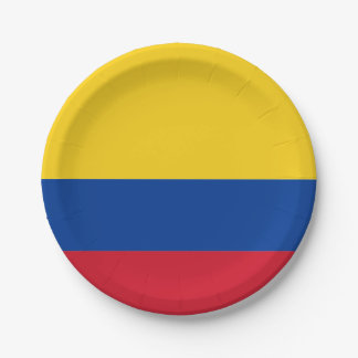 Flag: Colombia 7 Inch Paper Plate