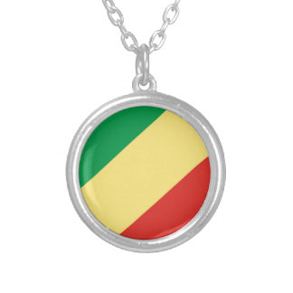 flag_congo silver plated necklace