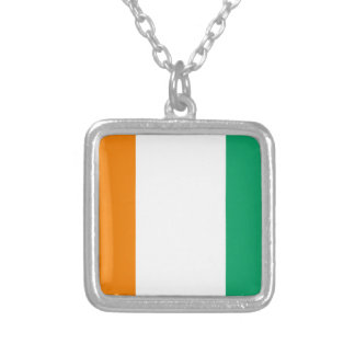 flag_costadomarfim silver plated necklace