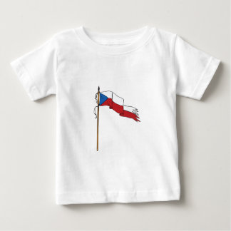Flag Czech Republic Torn Ripped Retro Baby T-Shirt