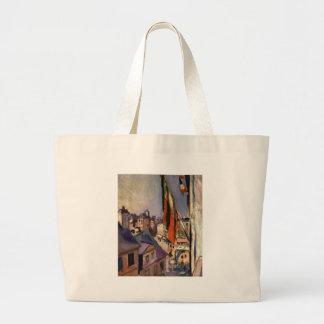 Flag Decorated Street by Pierre-Auguste Renoir Jumbo Tote Bag