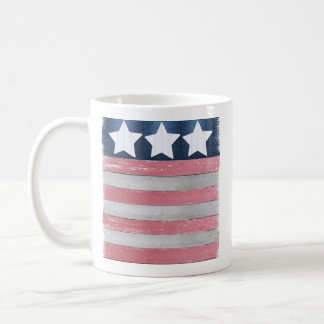 Flag design mug using rustic wood photos
