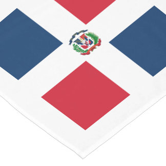 Flag: Dominican Republic Short Table Runner