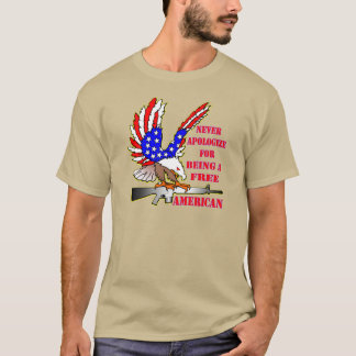 Flag Eagle Ar-15 M16 Never Apologize For Being T-Shirt