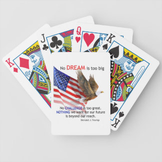 Flag & Eagle Donald J Trump Quote Bicycle Playing Cards