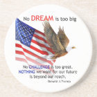 Flag & Eagle Donald J Trump Quote Coaster