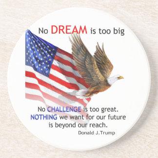 Flag & Eagle Donald J Trump Quote Coaster