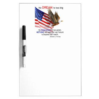 Flag & Eagle Donald J Trump Quote Dry Erase Board