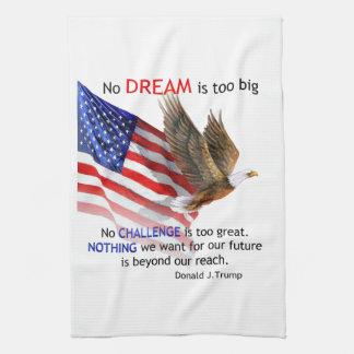 Flag & Eagle Donald J Trump Quote Hand Towels
