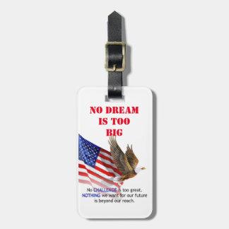 Flag & Eagle Donald J Trump Quote Luggage Tag