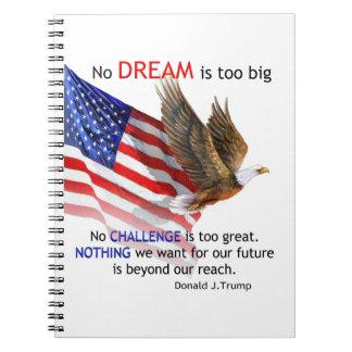 Flag & Eagle Donald J Trump Quote Notebooks