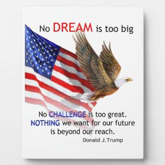 Flag & Eagle Donald J Trump Quote Plaque